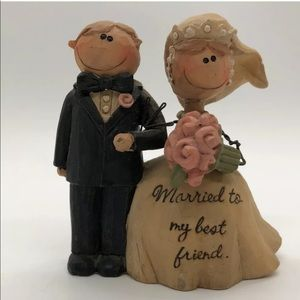 Bride Groom Cake Topper Figurine Resin Married